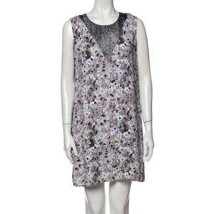 Kenzo Paris Moon Map Patterned Dress